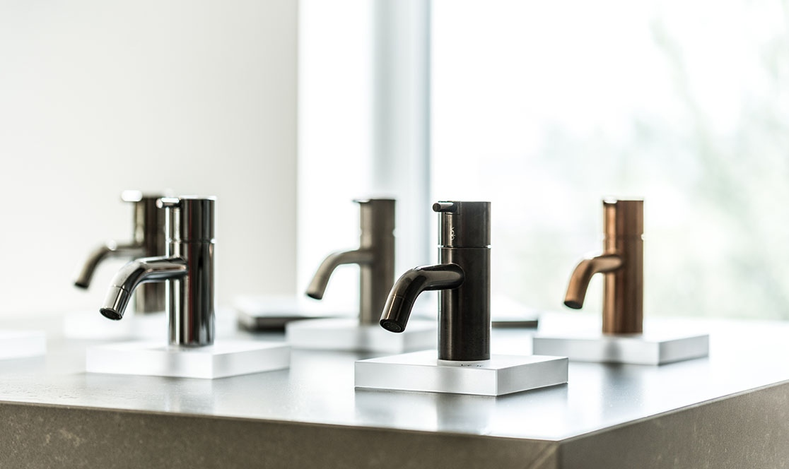 VOLA sinks and accessories at the Stone Concept stand