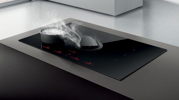 Introducing the ELICA NICOLATESLA SWITCH downdraft induction cooktop
