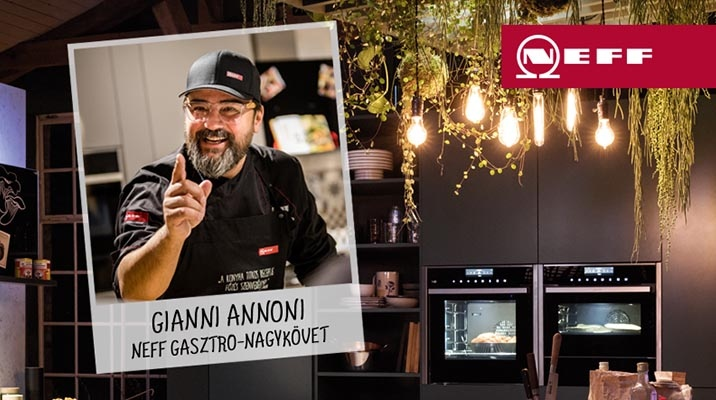 Kitchen design tips from Gianni Annoni at the Neff stand